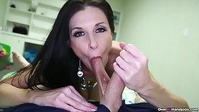 Addictive blowjob in POV scenes by India Summer