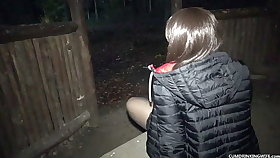 Shadowing wife gangbanged and creampied at the cookout area