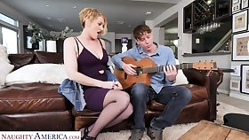 Eve Laurence will teach a sex lesson more the guitar teacher