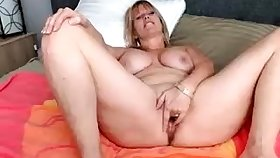 Dildo solo 49 years BBW housewife to big boobs