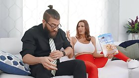Dude with a massive unearth fucks mouth and pussy of MILF Alexis Fawx