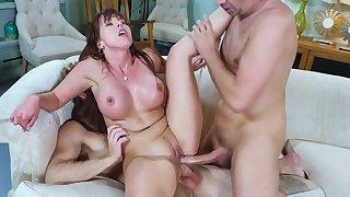 Milf in heats, intense scenes of savage threesome sex
