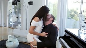 Captivating brunette Christiana Cinn is convention love apropos Danny Mountain