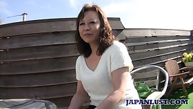 Matured Japanese daughter Akemi Seo rides dick and gets her soaking slit stretched well