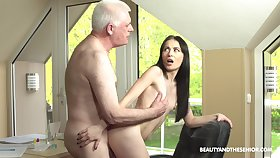 Roxy Sky loves fucking with her old but hornier than ever friend