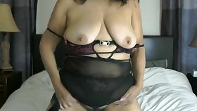 Sexy passionate curvy Latina Spread out milf blinking on the lie alongside