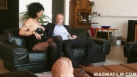 Old German slut knows how to make a dick speed and she is so insatiable
