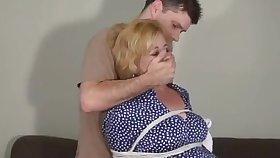 Lewd mature sack foetus was ready be incumbent on some horny bondage workout