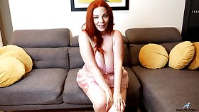 Fat and hot redhead Avalon gets all naked encircling work on her moist pussy