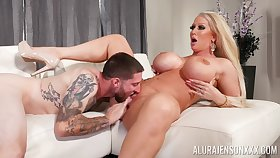 Top cougar gets the young dick in all directions behindhand her soaked cunt