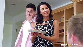 Attractive wife Lezley Zen fucked by her husband and his friend