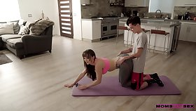 Fit MILF stepmom gets roughly treasure her stepson and his GF more intimately
