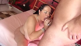 Smooth porn roughly a chubby slut after she gives head