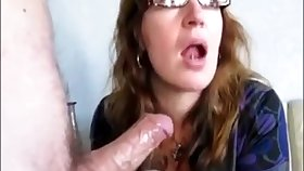 Mature fit together drink cum in front be proper of her husband