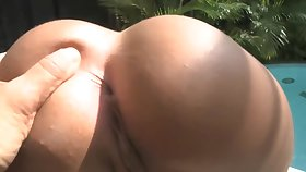 Nasty Latina bitch and her lucky comrade-in-arms decided to try out anal sex, in front of the webcam